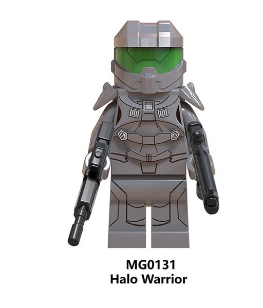 Halo Spartan Soldier Series Model Warrior With Real Weapon Figures Building Blocks Children Toys Gift