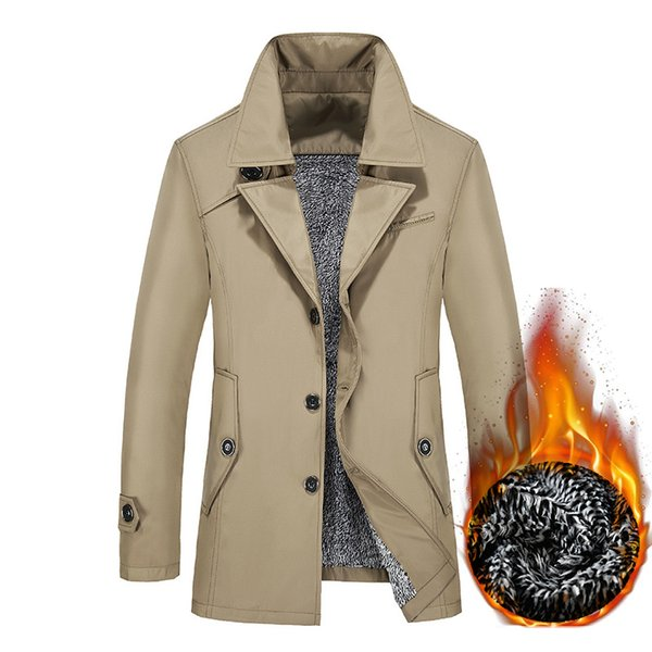 Autumn Fashion Men's Trench Coat Male Blazer Design Business Casual Suit Jacket Winter Thick Warm Windbreaker Plus Size 8XL 9XL