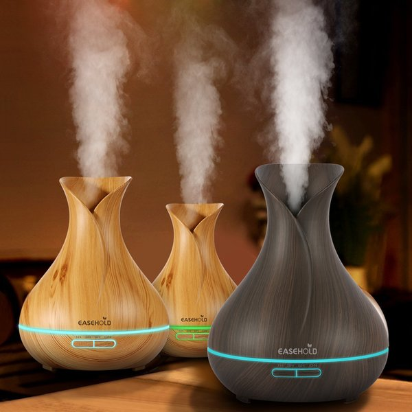 top popular 400ml Air Humidifier Essential Oil Diffuser Aroma Lamp Aromatherapy Electric Aroma Diffuser Mist Maker for Home-Wood 2021