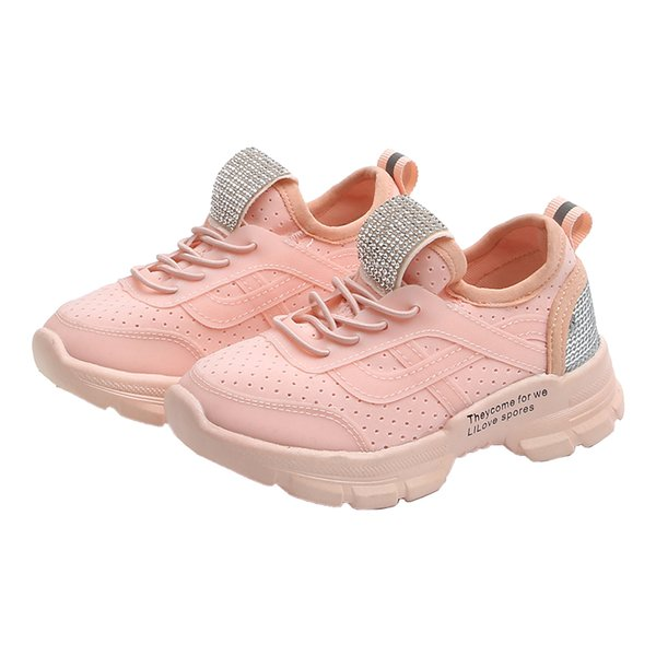 2019 New 30% OFF Spring White Light Breathable Children Walking Sneaker Thick Soled Flexible Boy Girl Kids Outdoor Jogging Shoe