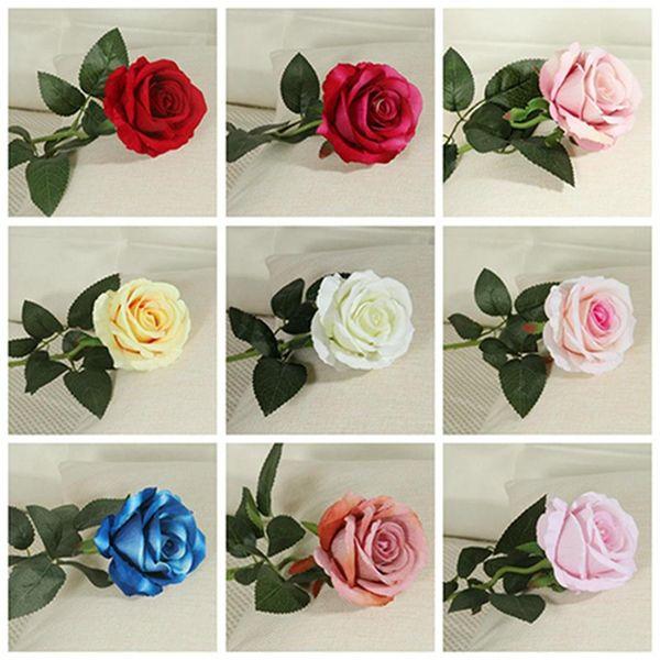 Yapay İpek Çiçek Tek Güzel Gül Şakayık DIY Buket Ev Partisi Bahar Düğün Dekorasyon Evlilik Sahte Çiçek DH0914
