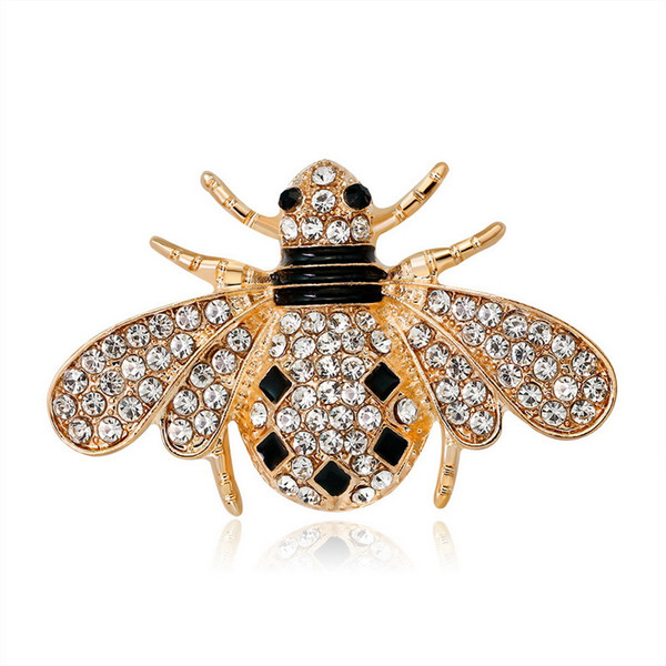 fashion bee brooch jewerly crystal Cute Brooches and Pins Gift Xmas Crystal Brooch Gift Pin snowman Brooches Pins Brooches for Men Women