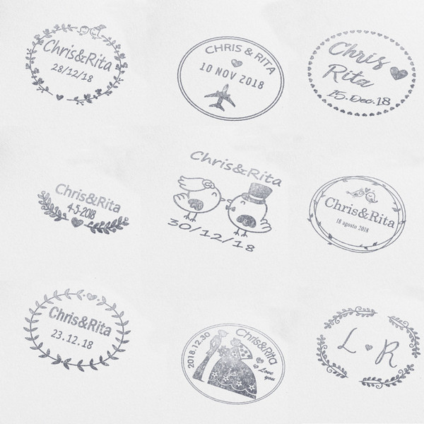 40mm Personalized Custom Self Inking Wedding Business Family Return Address Round Stamp Nitials Name Date Q190528 Embossing Stamp Teacher Stamps