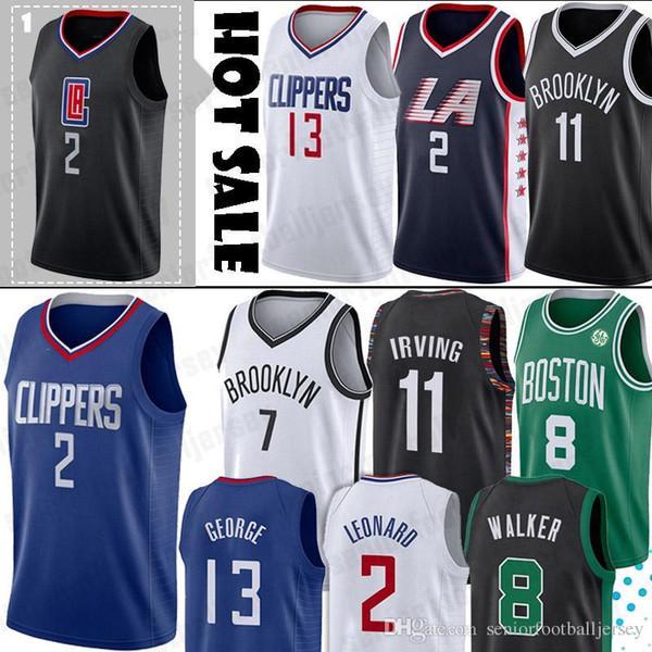Clippers Formalar Kawhi 2 Leonard LA Paul 13 George 11 Kyrie Erkek Irving Formalar Ağları NCAA Kevin 7 Durant 8 Walker 3 Wade