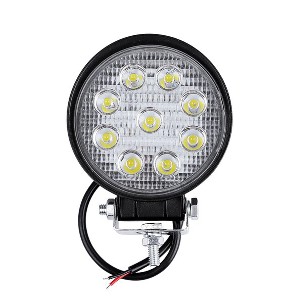 10 unids 27 W LED de trabajo barra de luz de conducción de automóviles niebla punto de luz Offroad LED lámpara de trabajo Vehículo Camión SUV ATV Motocicleta Led Car Retrofit Styling