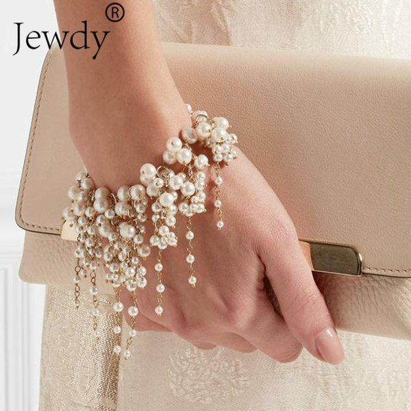 Pearl Fashion Multilayer Beads Charm Bracelet for Women Vintage Wedding Party Bracelets & Bangle Femme Jewelry Wholesale 2018