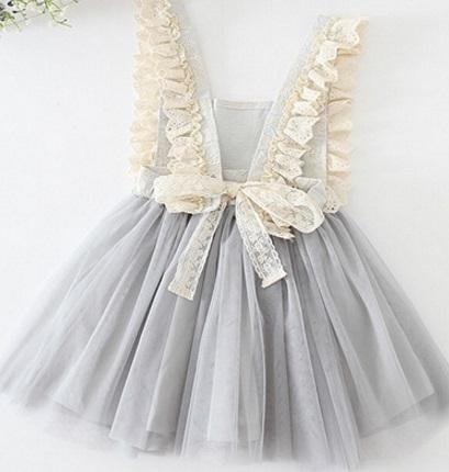 Vieeolove Baby Girls Lace Tutu 2019 New Spring Autumn Dresses Childrens Sleeveless for Kids Clothing Flower Floral Vest Bow Dress VL-067