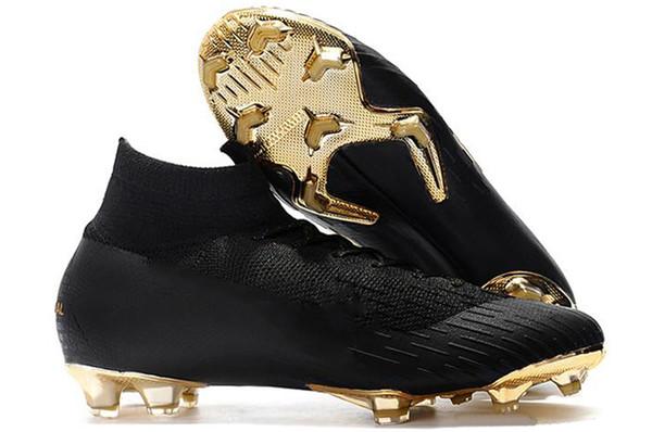 Il più attraente nero oro Mercurial Superfly VI 360 Elite Ronaldo FG CR scarpe da calcio chaussures scarpe da calcio alte scarpe da calcio tacchetti
