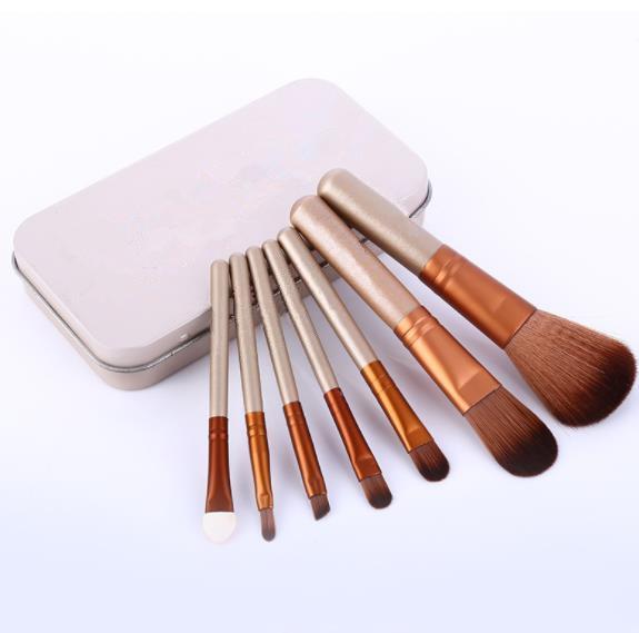 12pcs / set de maquillaje de la cara de la fundación NK3 Nake CEPILLO Softbale sintéticos profesionales pinceles de maquillaje cosmético con caja de la lata
