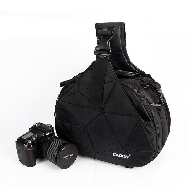 Wasserdichte Reise-Schulter-Schulter-DSLR-Kameratasche Kann für Kamera verwendet werden. mit Rain Black Cover