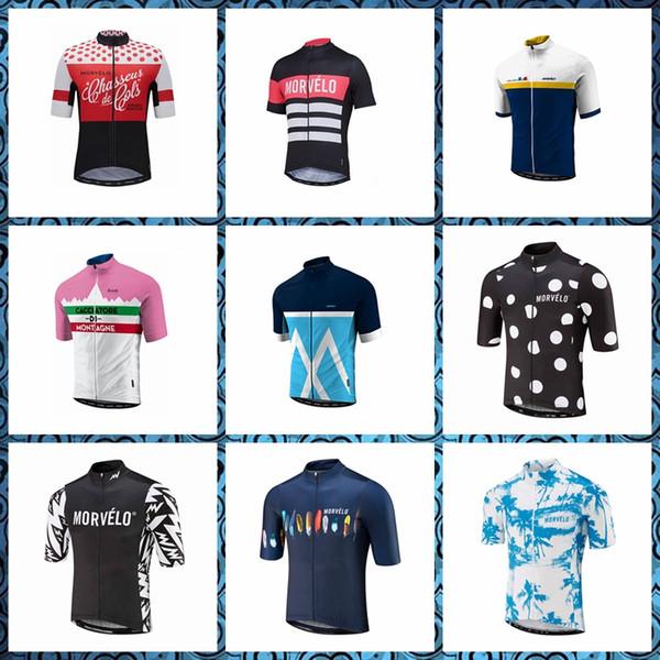 Morvelo Bisiklet Kısa Kollu jersey erkekler yaz Nefes Aşınmaya dayanıklı fermuar İnce ve hafif Slim fit 61301