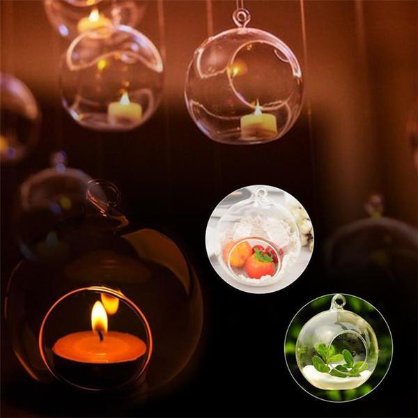 best selling Romantic Hanging Tealight Holder Glass Globes Terrarium Wedding Candle Holder Candlestick Vase Home Hotel Bar Decoration