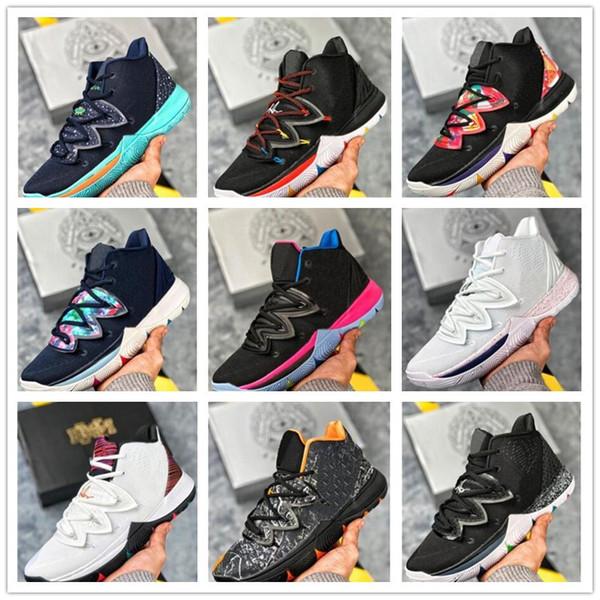 Marque Kyrie Cinq 5 V Zoom Magic Sky Black Star Hommes Basketball Chaussures Noir Blanc arc-5S Poids léger respirant Chaussures de sport Sport