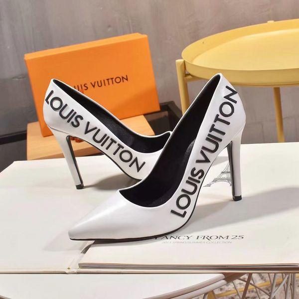 Tasarım Kadınlar gündelik ayakkabı Yüksek Topuklar 2.5cm 8 ile 10 cm Siyah Deri Sivri Burun Moda Kadınlar Düğün Elbise Ayakkabı