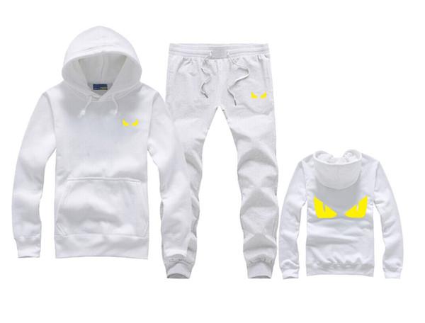 Marka Yeni Erkekler Setleri Moda Sporting Suit Kazak + Sweatpants Erkek Giyim 2 Parça Setleri Ince Eşofman T3