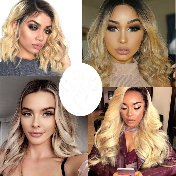 1B 613 Blonde Ombre Color 150% Density Brazilian Hair Deep Wave Wig Pre Plucked Glueless Lace Front Human Hair Wigs for Black Women