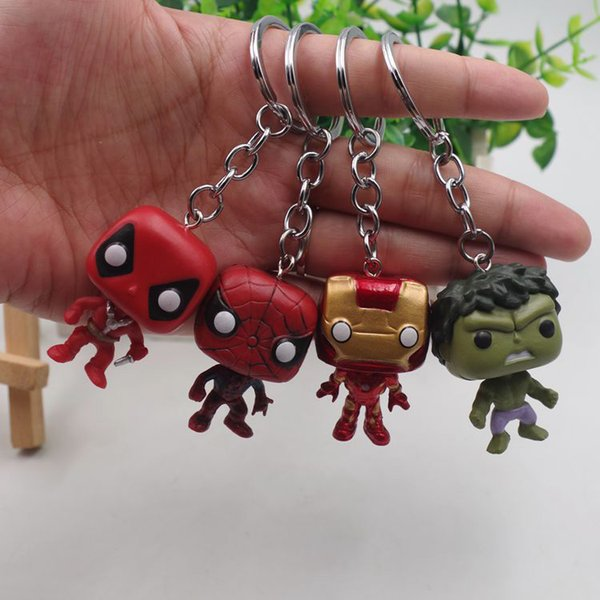 Funko Pop Keychain The avengers Action Figures Anime Collection Doll kids Toys Movie Anime Key chain Keyring kids toys