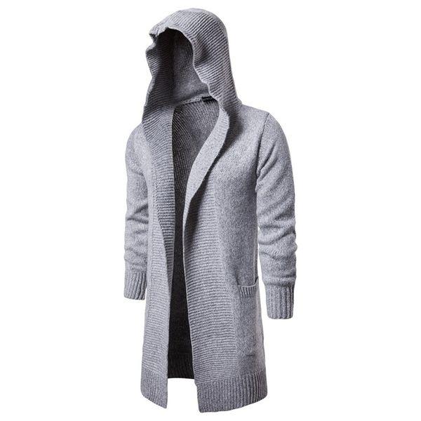 Sweater Men Autumn Winter Hooded Sweatercoat New Fashion Men Cardigan Casual Sweaters Winter Warm Outwear Long Sweatercoats