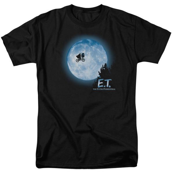 E.T. ET Extra Terrestrial Movie Flying in Bike Full Moon Tee Shirt Adult S-3XL Men Women Unisex Fashion tshirt Free Shipping