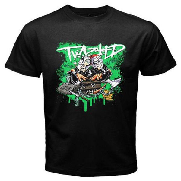"""TWIZTID """"CARTOON"""" SPRAYPAINT Men's Black T-Shirt Size S-3XL Brand Cotton Men Clothing Male Slim Fit T Shirt"""