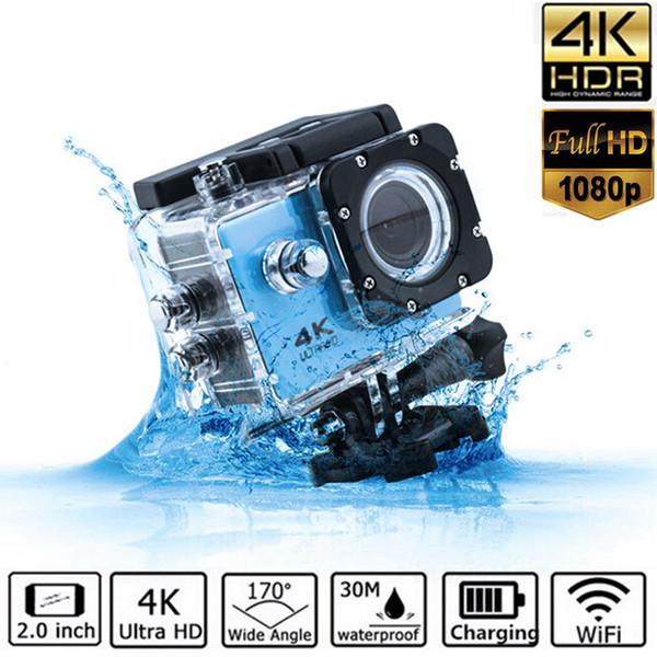 2 pulgadas TPS LCP 4K Ultra HD Cámara de video FHD 1080P Deportes DV UHD Acción WiFi Videocámara Anti-shake Cam Gran Angular Go Deportiva Pro