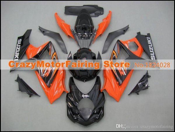 High quality New ABS motorcycle Fairings Kits Fit For Suzuki GSXR1000 K7 GSX-R1000 2007 2008 07 08 bodywork set custom black orange cool