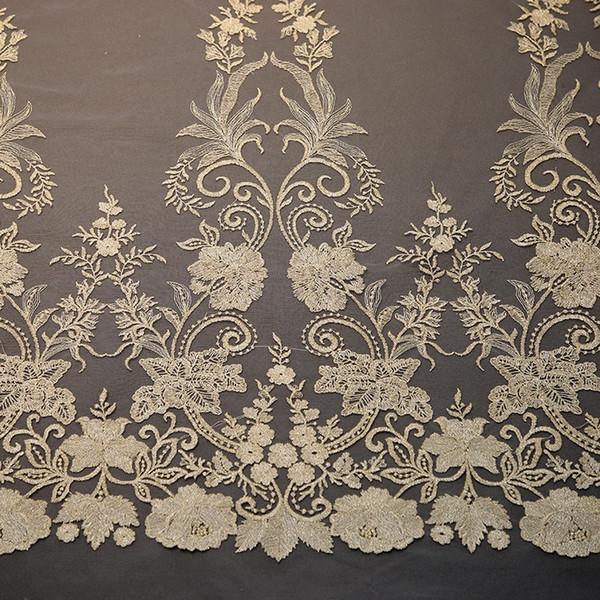 1 ярдов растворимые в воде кружева мода Африканский вышивка кружева DIY свадебное платье аксессуары для одежды украшения дома занавес ткань
