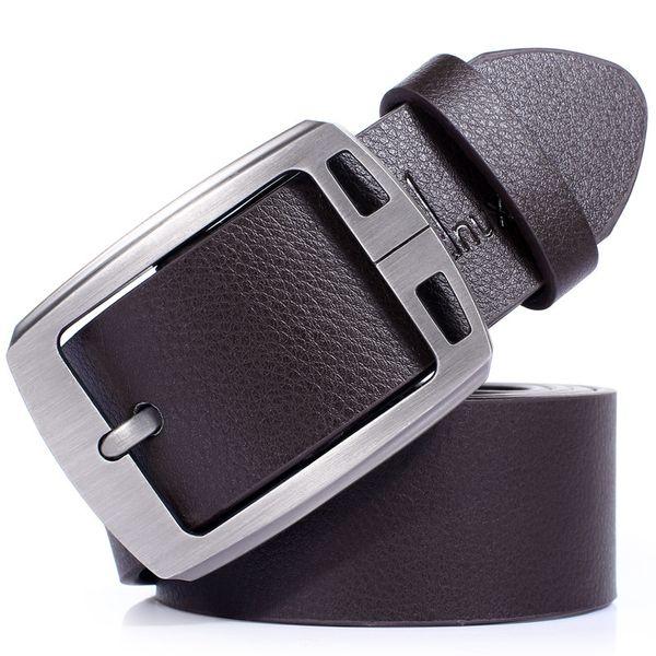 Cinturón Hombre PU Cuero Hebilla de aleación Cinturón negro / marrón Cintura 2019 Correas masculinas Longitud 90-125cm