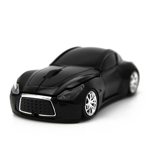 ratón inalámbrico en la forma de un regalo creativo del diseño del coche líneas suaves y confortables manos baterías de reserva por un largo tiempo