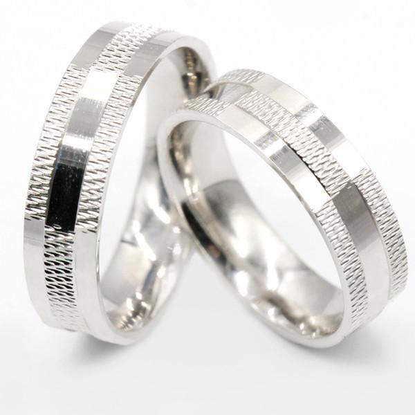 Couple Bagues En Argent Sterling 925 Pour Amoureux Conception Simple Style Classique pour Hommes Femmes Bande De Mariage Bijoux De Mode