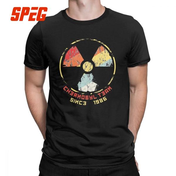 Russie Tchernobyl nucléaire de rayonnement T-shirts T-shirt de coton fou hommes col rond T-shirts manches courtes vêtements Graphic Plus Size