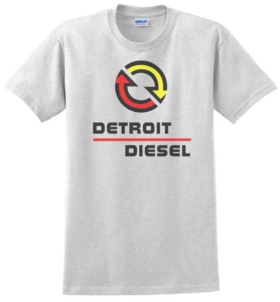 Detroit Diesel T-shirt. White,Gray,Sand,Yellow. Small -XXXL 100% Cotton Funny free shipping Unisex Casual tshirt