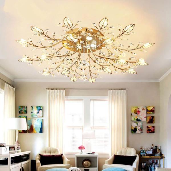 Modern Luxury LED Araña de cristal Luces de techo Lustre de cristal bola de cristal Colgante Lámpara Colgante Hogar Cocina Accesorios de Iluminación