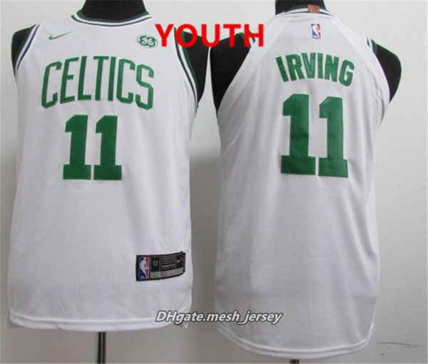 big sale 5802f 56f70 2019 Youth Boston Jersey Celtics Kyrie Irving Jayson Tatum Jaylen Brown  Larry Bird Stitched Baketball Jersey Black White Green From Top_07, &Price;  | ...