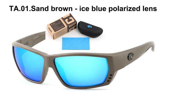 Venta CALIENTE Venta al por menor COSTA Frame Tuna Alley Polarized Sunglasses Gafas de pesca Surfing Sunglasses Diseñador de marca Paquete completo.
