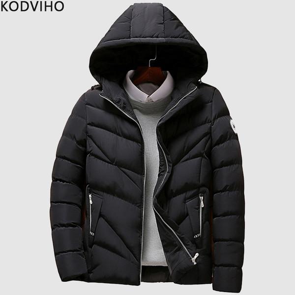 Großhandel Winterjacke Männer Straße Tragen Baumwolle Gepolsterte Warme Puffy Jacken Herren Stepp Schwarz Puffer Jacke Mann Blase Parka Mantel 4XL
