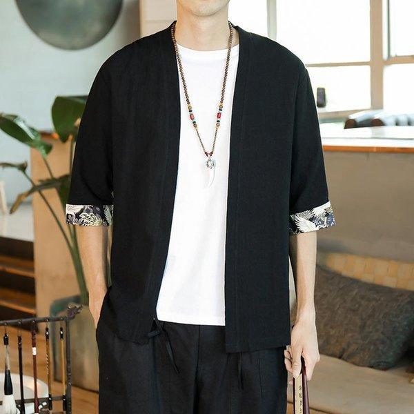 Shirts Noir Kimono