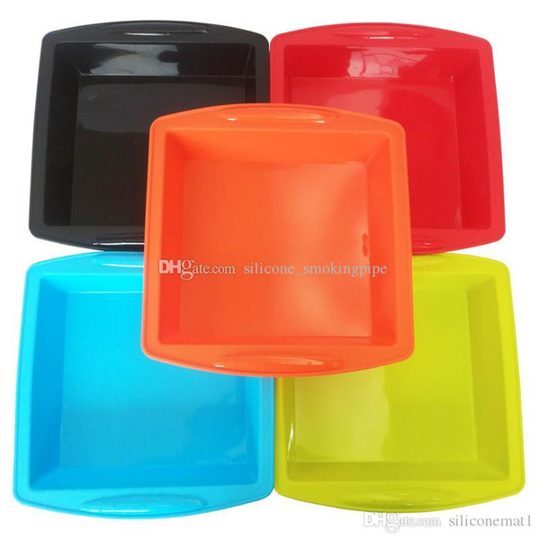 """Silicone Cake Pan 10""""x 9.5""""x2"""" Nonstick Unbreakable Soft Bakeware Baking Mould Storage Pans for bread Chocolate Pie Pizza fudge"""