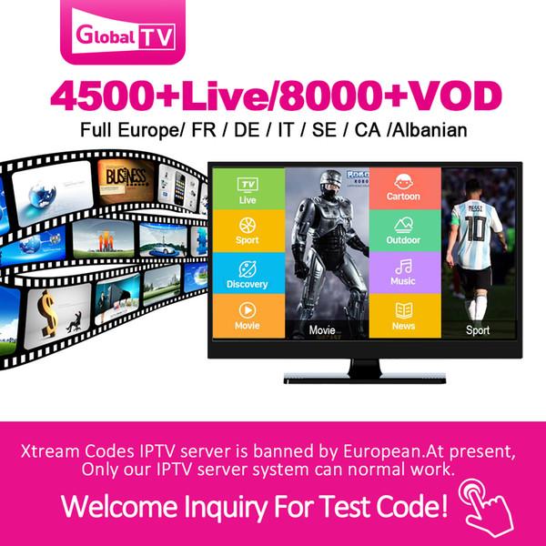 IPTV globale con abbonamento di 1 anno di copertura 4500 + live 8000 + VOD Spagna Francia Italia arabo Portogallo abbonamento Iptv Per Smart TV M3u Mag Box