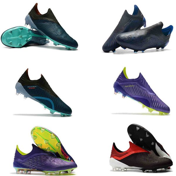 2019 Mens Low Ankle Football Boots X 18 FG Soccer Shoes X 18 Speedmesh X18 Speed Mesh Indoor Turf Soccer Cleats