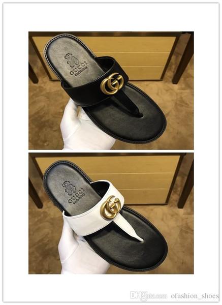 good quality Men Sandals Designer Shoes Luxury Slide Summer Fashion Wide Flat Slippery With Thick Sandals Slipper Flip Flop best shoes hijg
