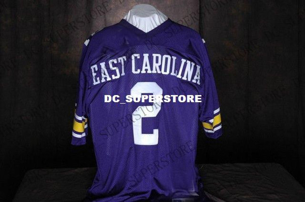 Cheap custom jeff blake east carolina pirates #2 college football jersey Customized Any name number Stitched Jersey XS-5XL