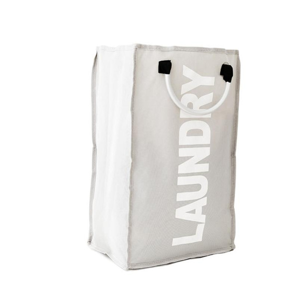 top popular Foldable Storage Thicken Oxford Basket Handy Bin Laundry Hamper Folding Clothes Bag Foldable Storage Laundry Bag Thicken Oxford 2019