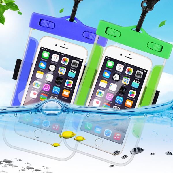 Wasserdichte handy case für iphone x xs max xr 8 7 samsung s9 klar pvc versiegelt unterwasser handy tasche abdeckung