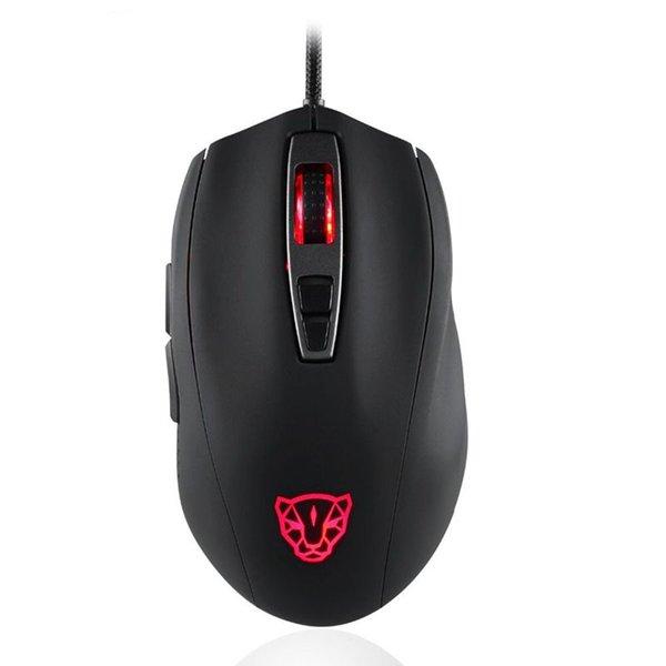 HOT-Motospeed V60 Mouse da gioco cablato a 5000 DPI 7 tasti Motore ottico ultrarapido Pmw3325 ad alta precisione