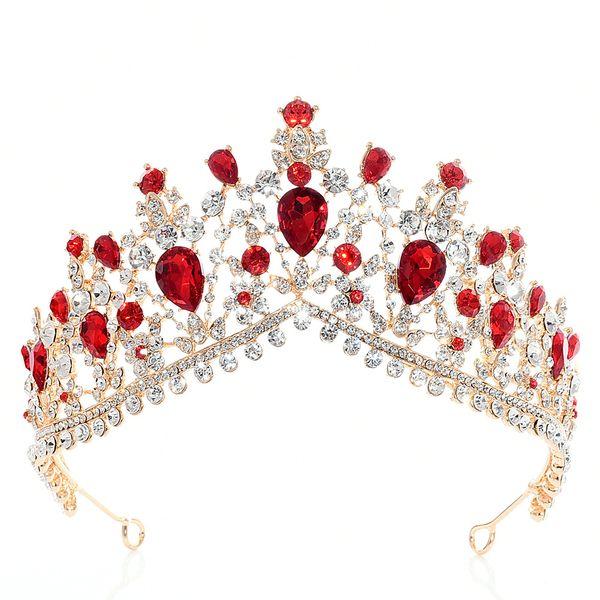 Ouro Prata Cristal Rhinestone Princesa Real Nupcial Do Casamento Prom Pageant Tiara Crown Gilr Mulheres Tiaras Croowns