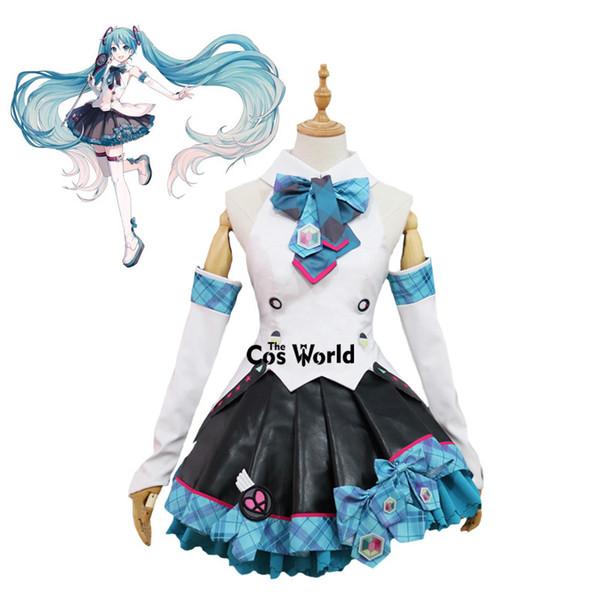 Costumi Accessori Cosplay 2017 Vocaloid Hatsune Miku MAGICO MIRAI alta uniforme Outfit Anime Personalizza Cosplay Costumi