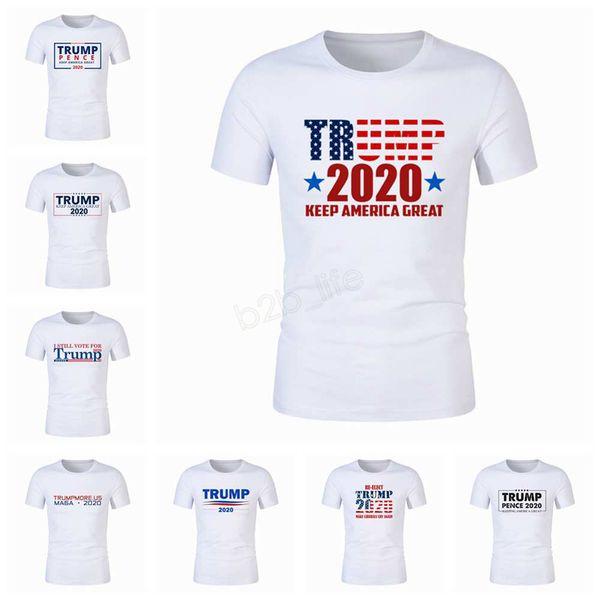 Мужская футболка с длинным рукавом с длинным рукавом с надписью Donald Trump 2020, флаг США Keep American Great letter Tops Футболка большого размера, 29 стилей LJJA2877