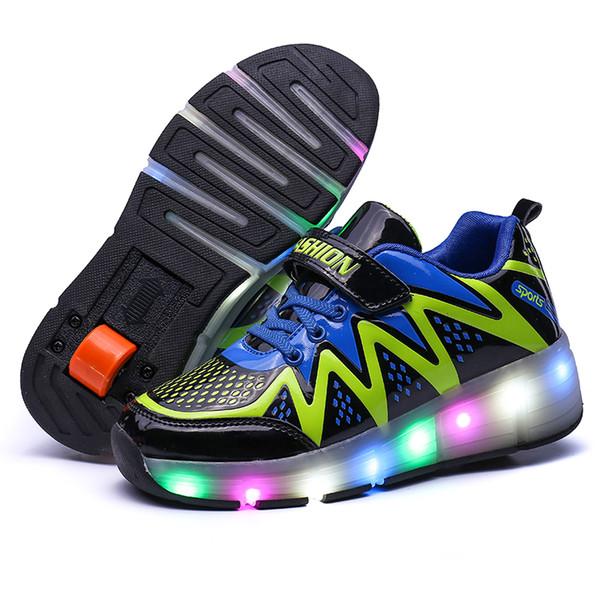 Sıcak satış LED Inline Paten ayakkabı parlayan Çocuklar Işık paten sneakers Çocuk Roller Ayakkabı Çocuk Sneakers Ile Tekerlekler