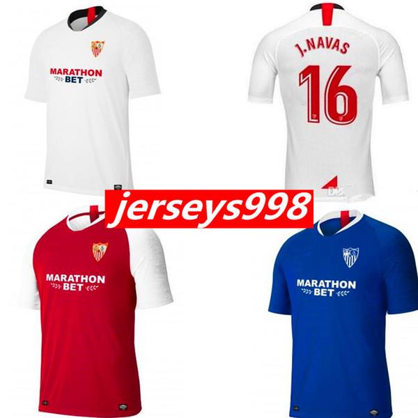 2019 2020 NEW CAMISETA Sevilla BEN YEDDER Soccer Jerseys 19 20 EVER BANEGA maillots MUNIR ANDRE SILVA J.NAVAS SARABIA PROMES Football shir